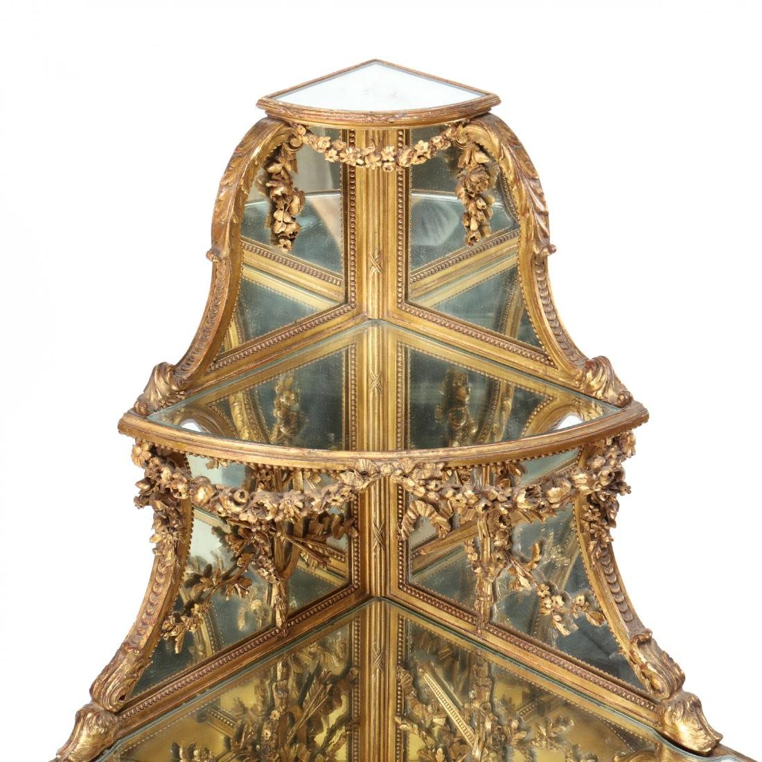 Louis XV Style Carved and Gilt Corner Etagere - 4