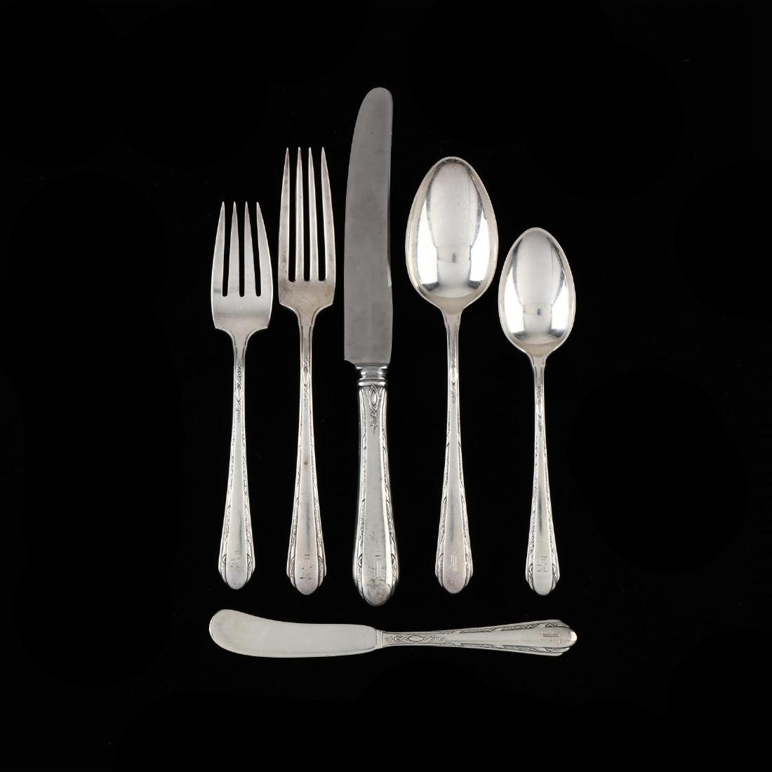 "Towle ""Chased Diana"" Sterling Silver Flatware Service"