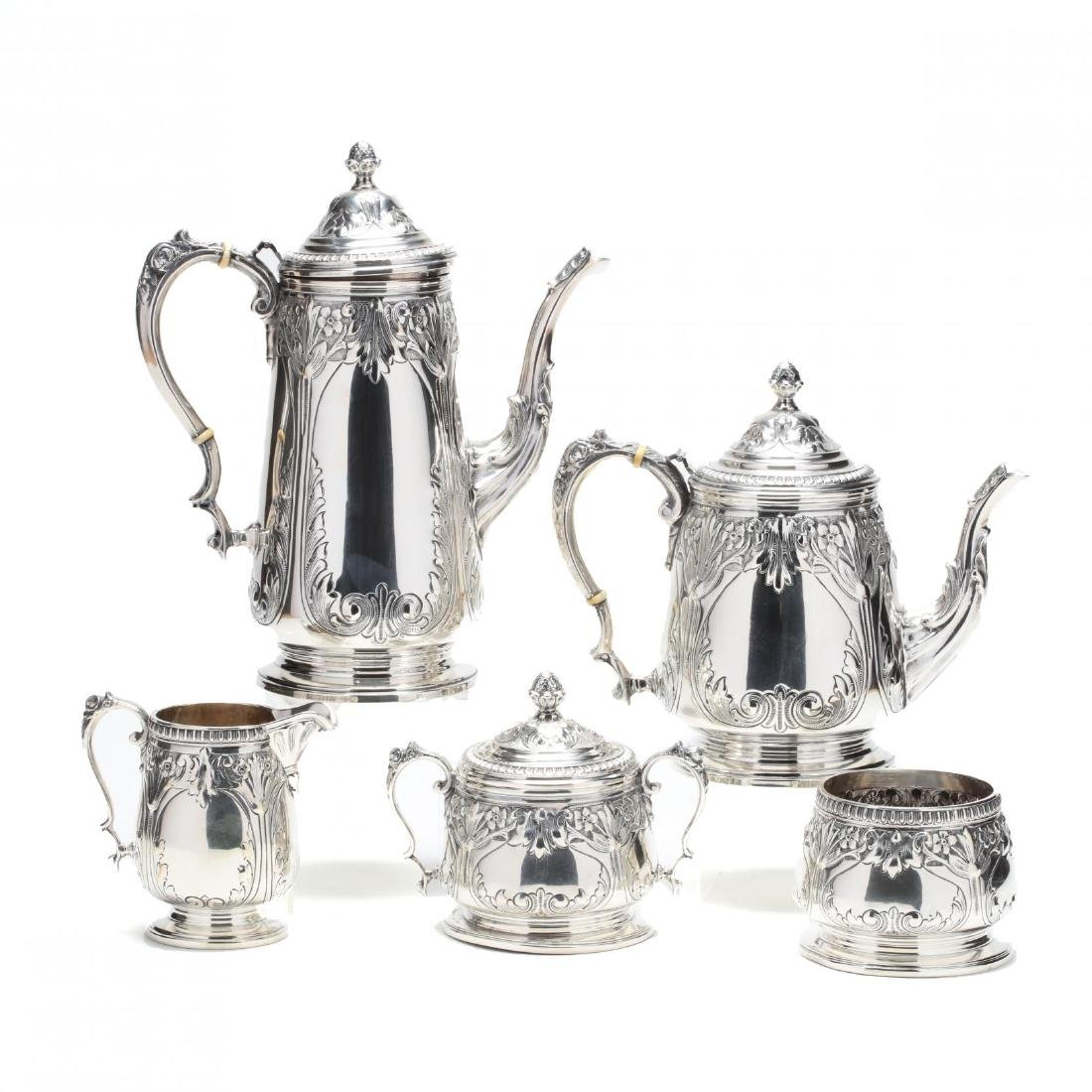 A Sterling Silver Tea & Coffee Service, Durham Silver