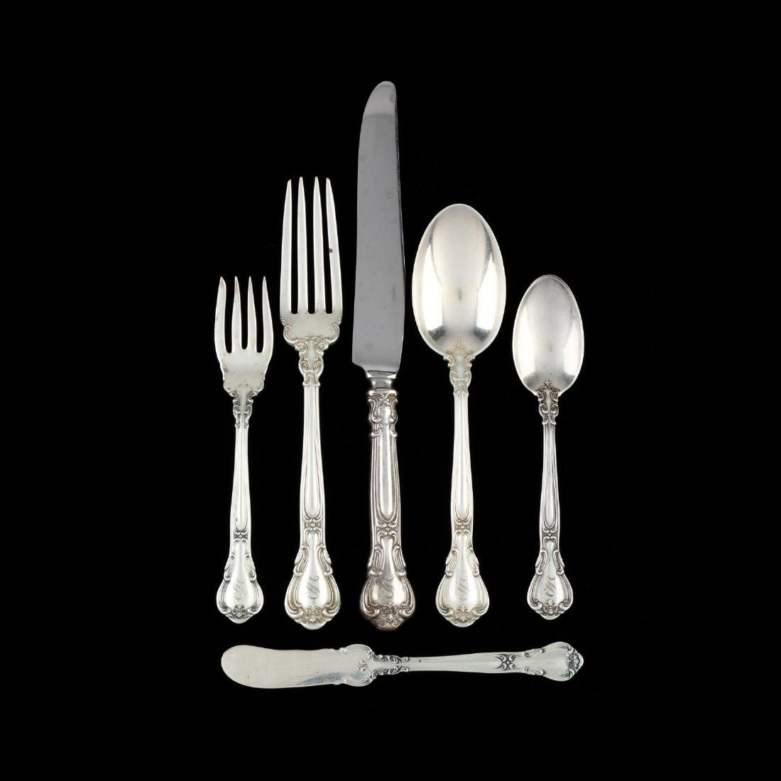 "Gorham ""Chantilly"" Sterling Silver Flatware Service"