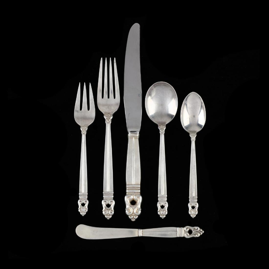 "International ""Royal Danish"" Sterling Silver Flatware"