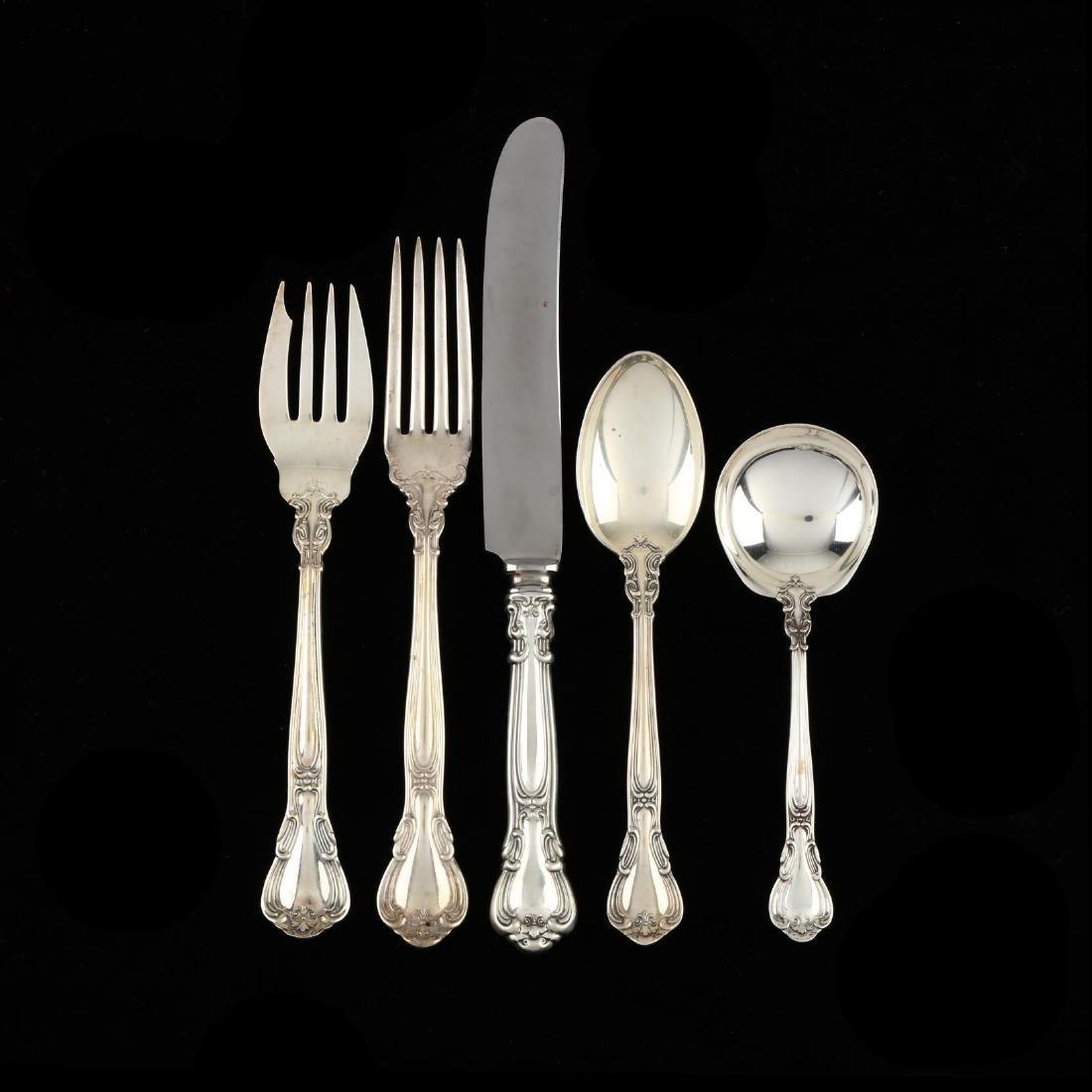"Gorham ""Chantilly"" Sterling Silver Flatware Service"