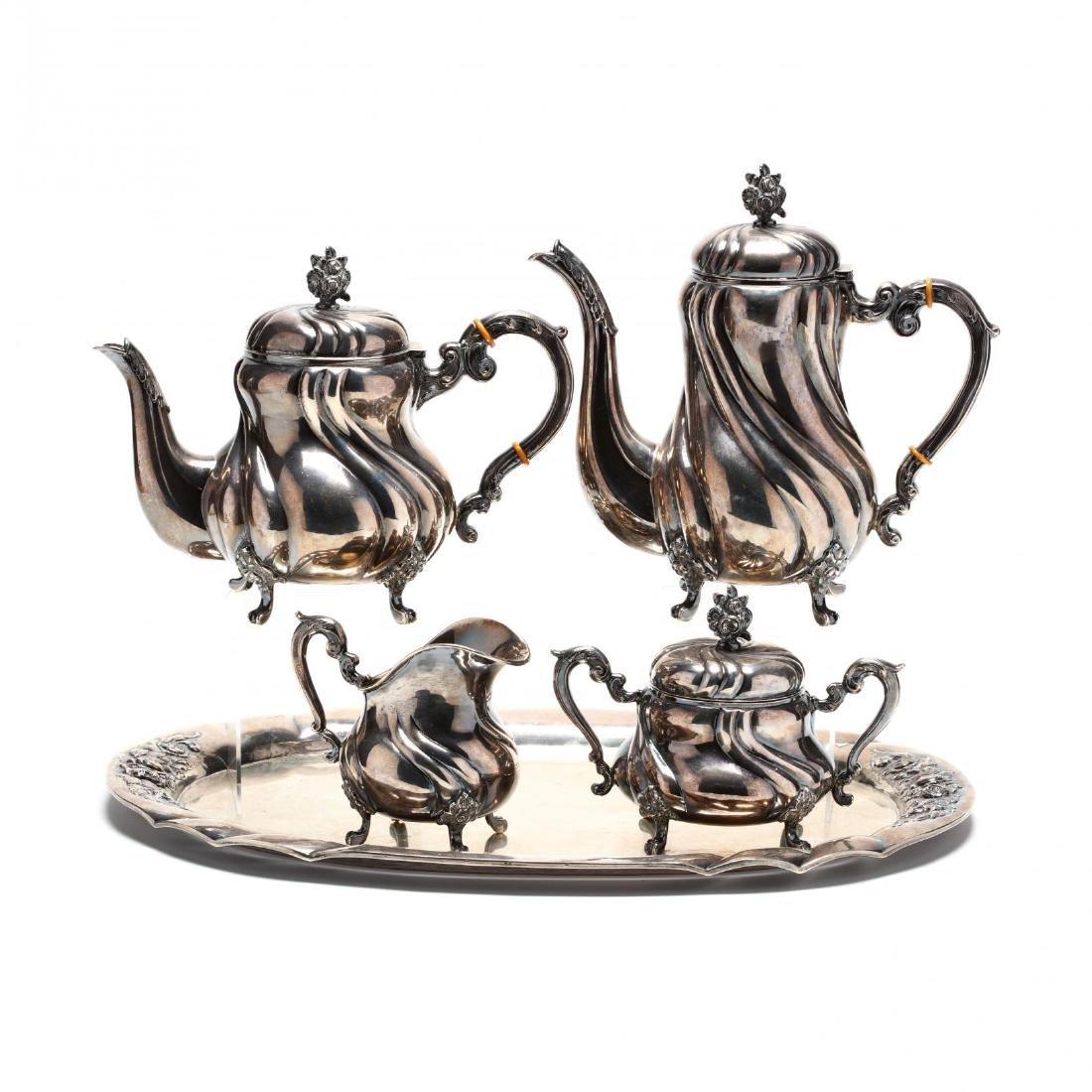 A Vintage Sterling Silver Tea & Coffee Service, German