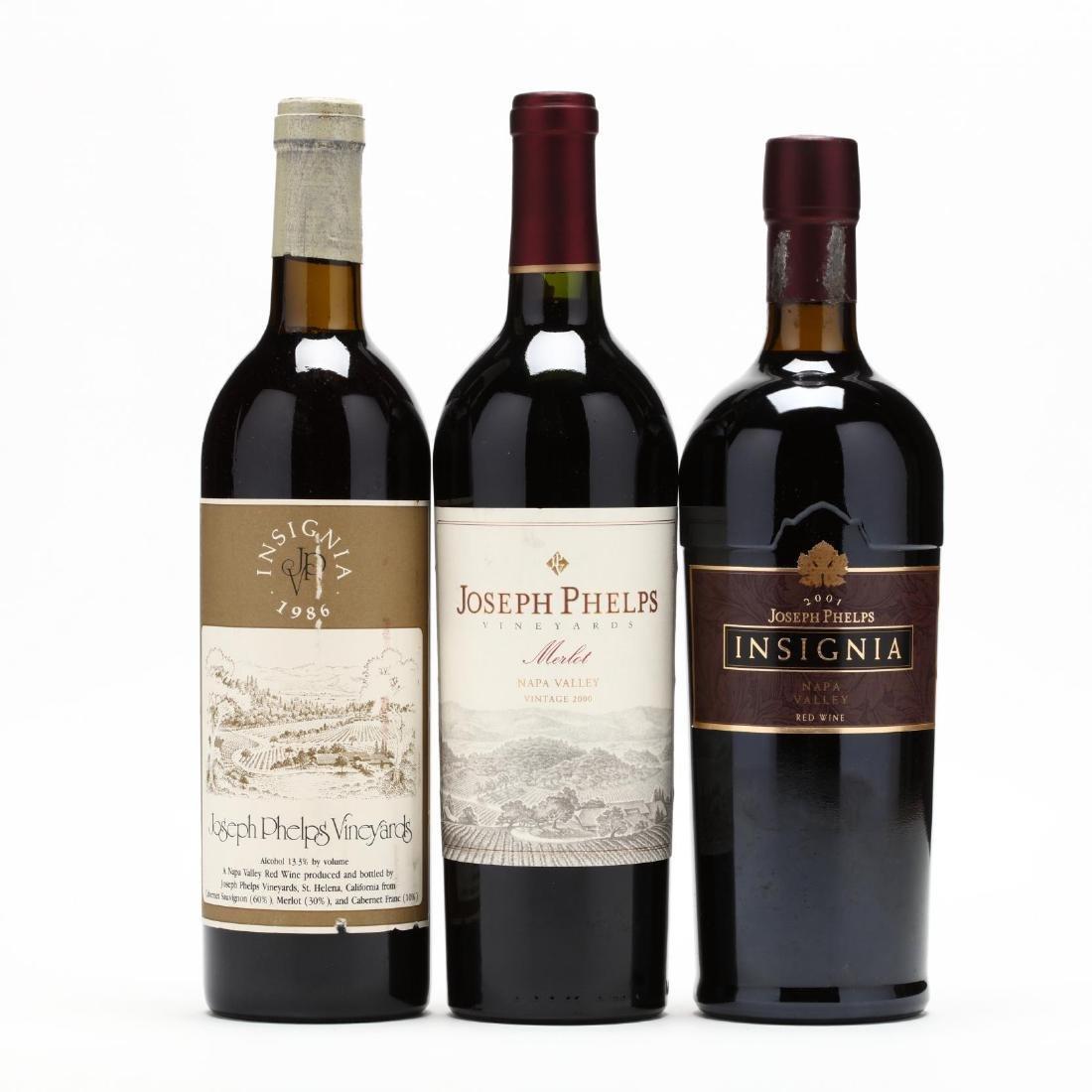 1986, 2001 & 2000 Joseph Phelps Vineyards