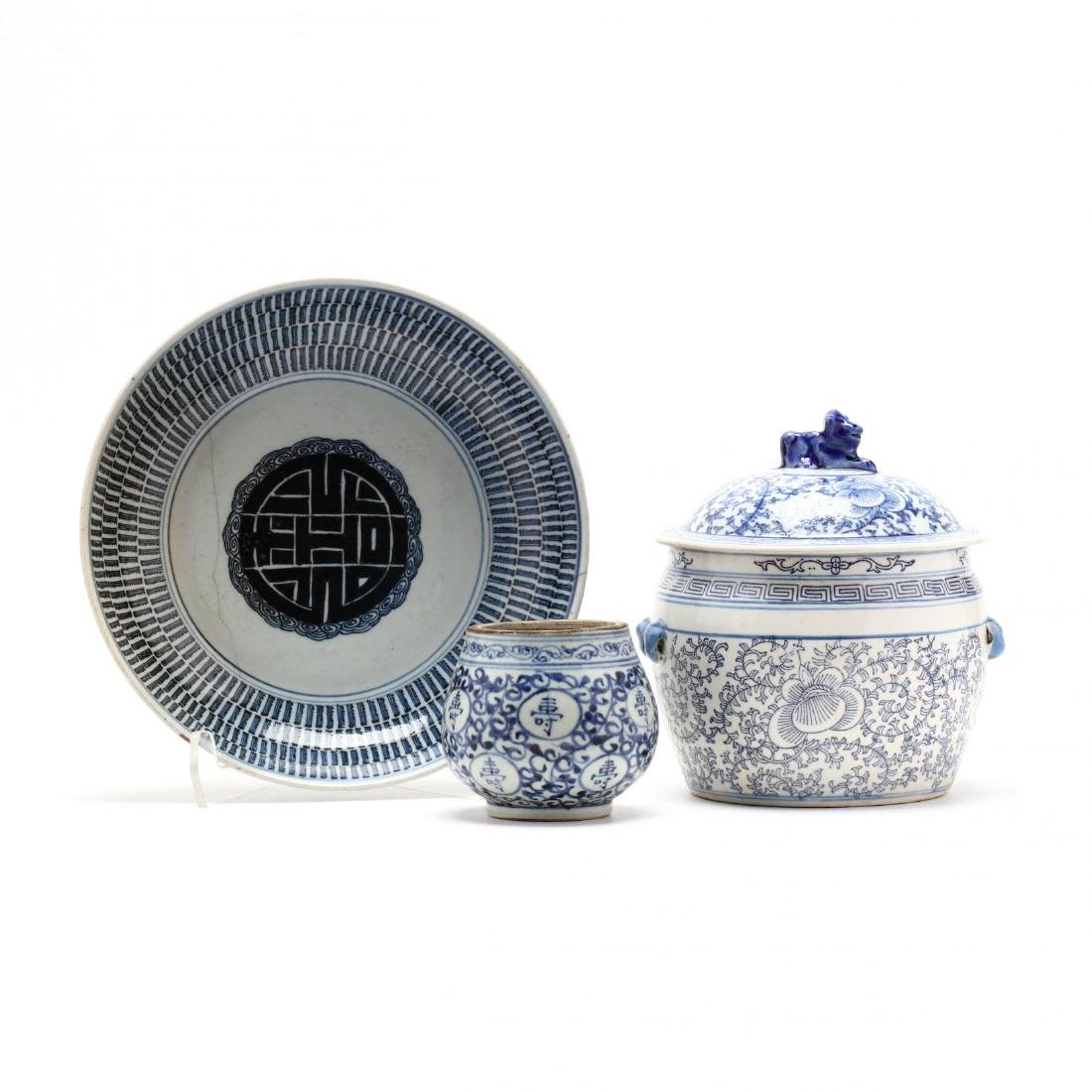 A Group of Chinese Blue and White Porcelain Ceramics