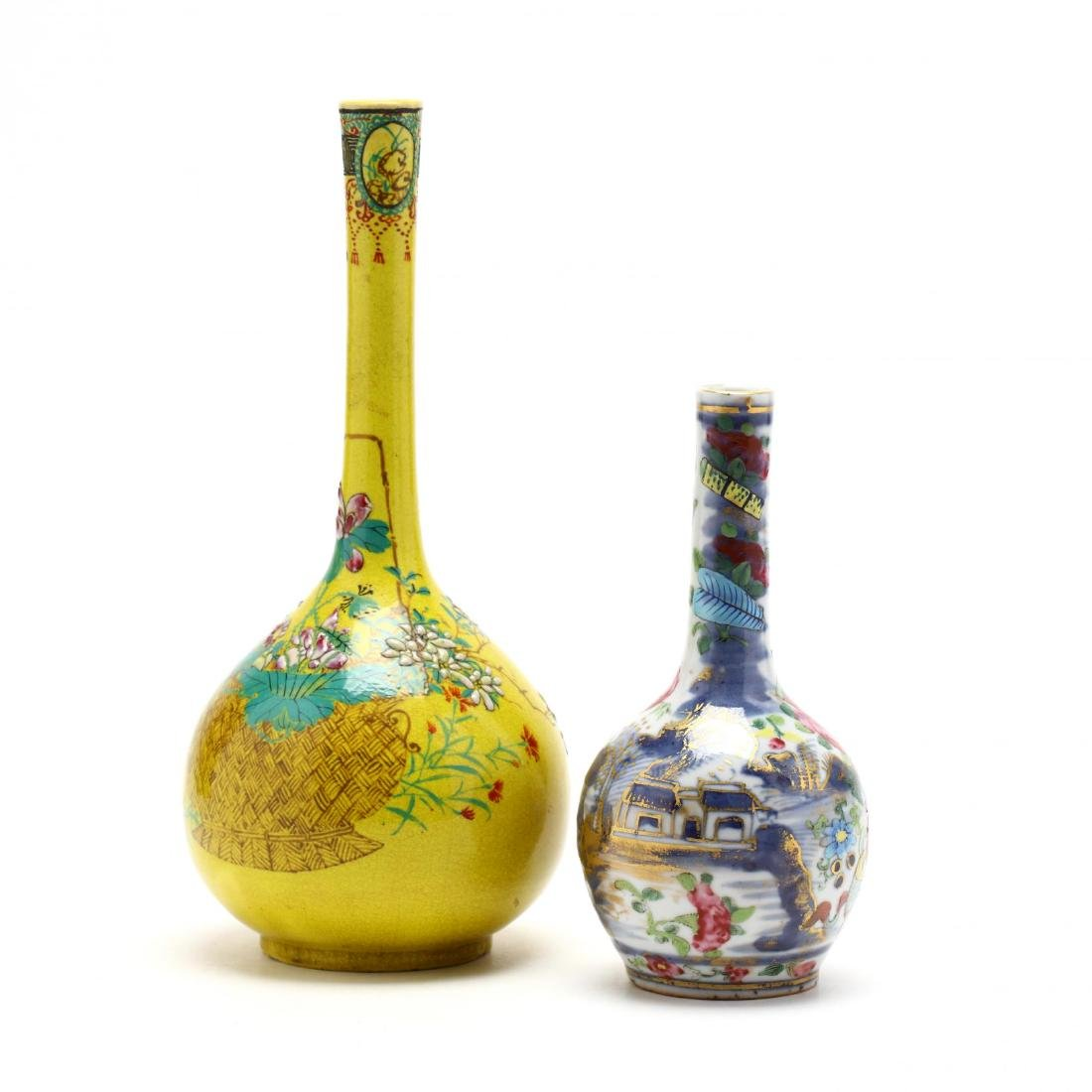 Two Chinese Bottle Vases