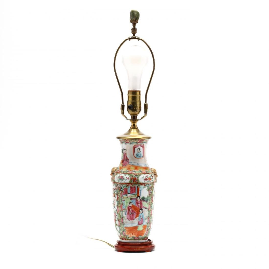 A Chinese Export Famille Rose Table Lamp