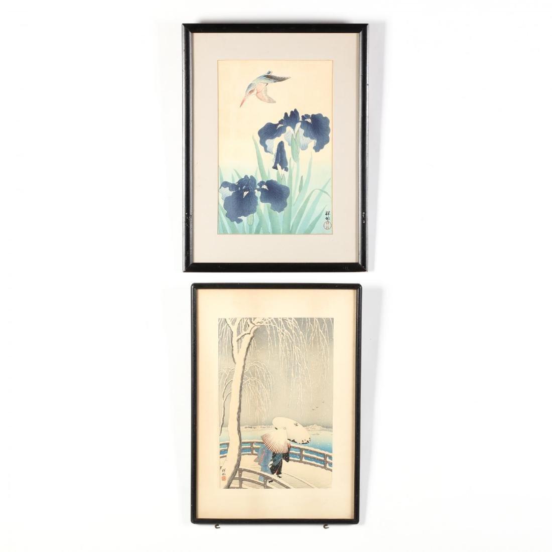 Two Woodblock Prints by Ohara Shoson (Koson) (Japanese,