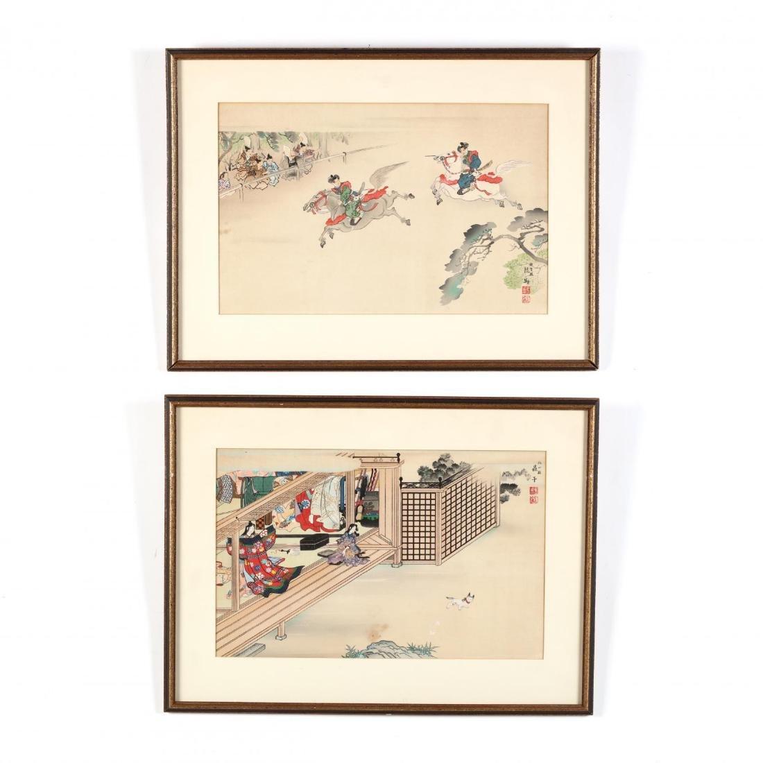 A Pair of Japanese Woodblock Prints