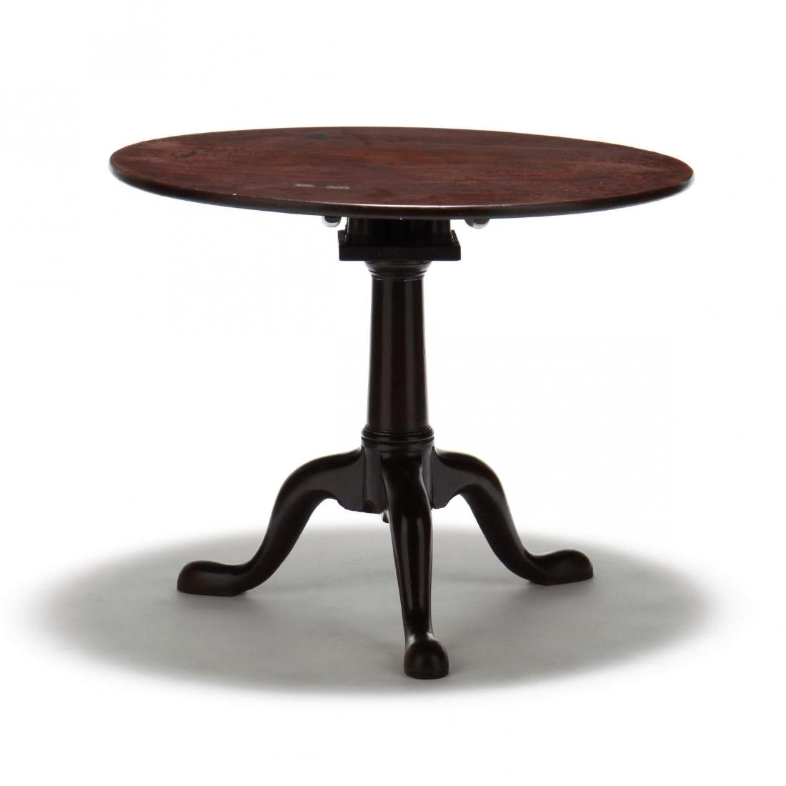 George II Mahogany Tilt Top Tea Table