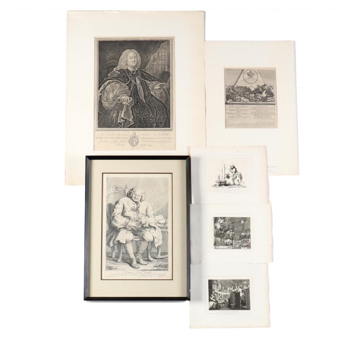 William Hogarth (British, 1697-1764), Group of (6)