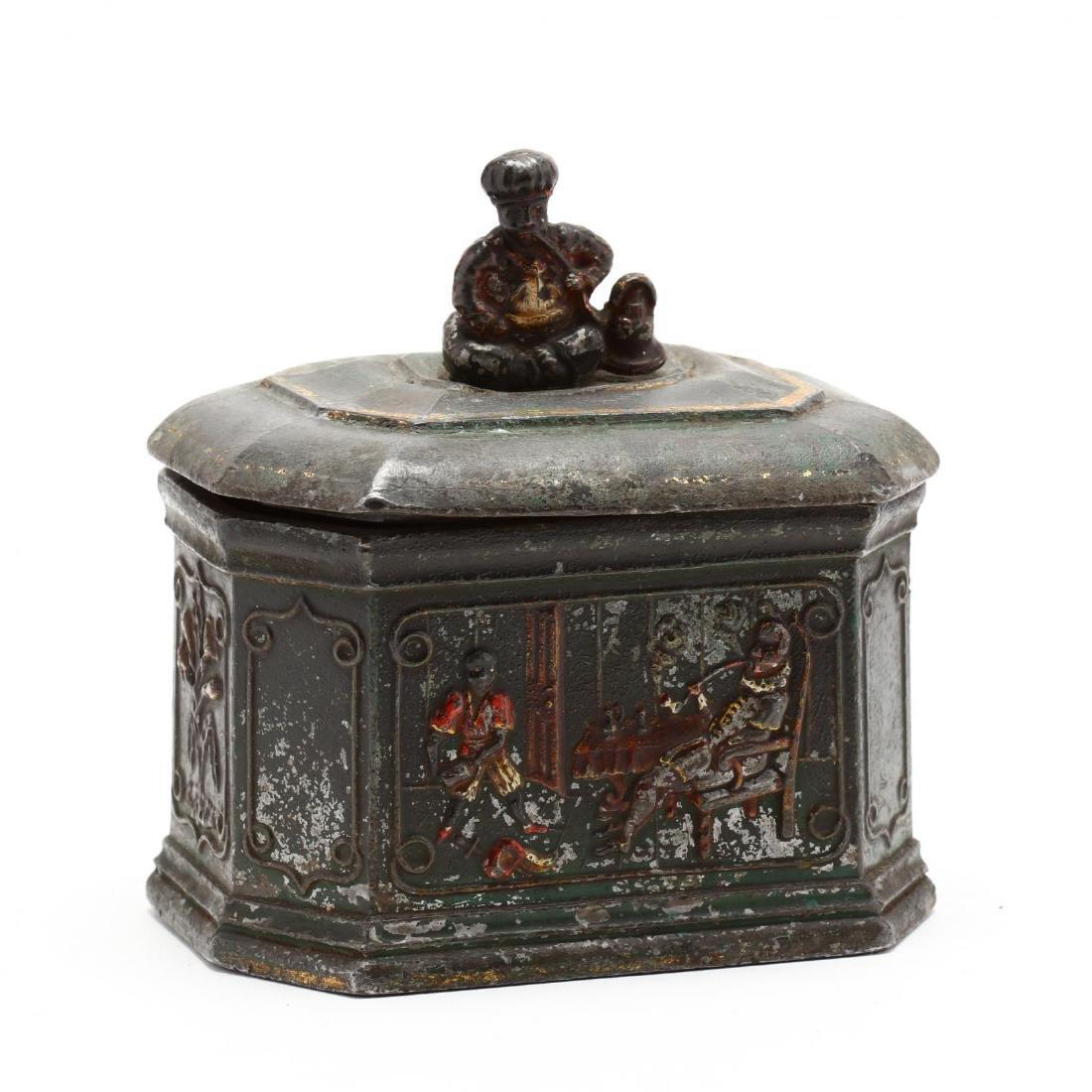 Antique English Cast Lead Humidor