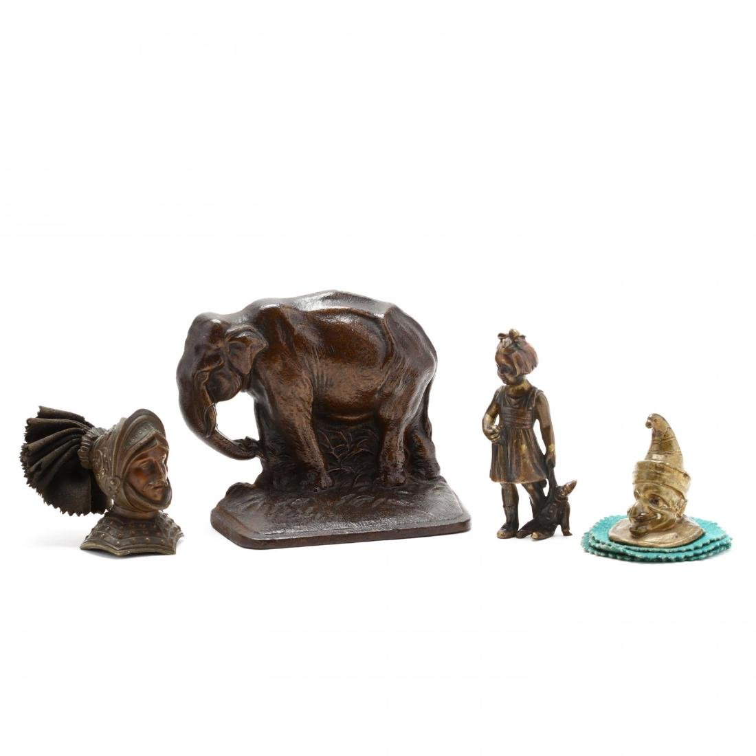 Vintage Iron and Bronze Desk Accessory Grouping