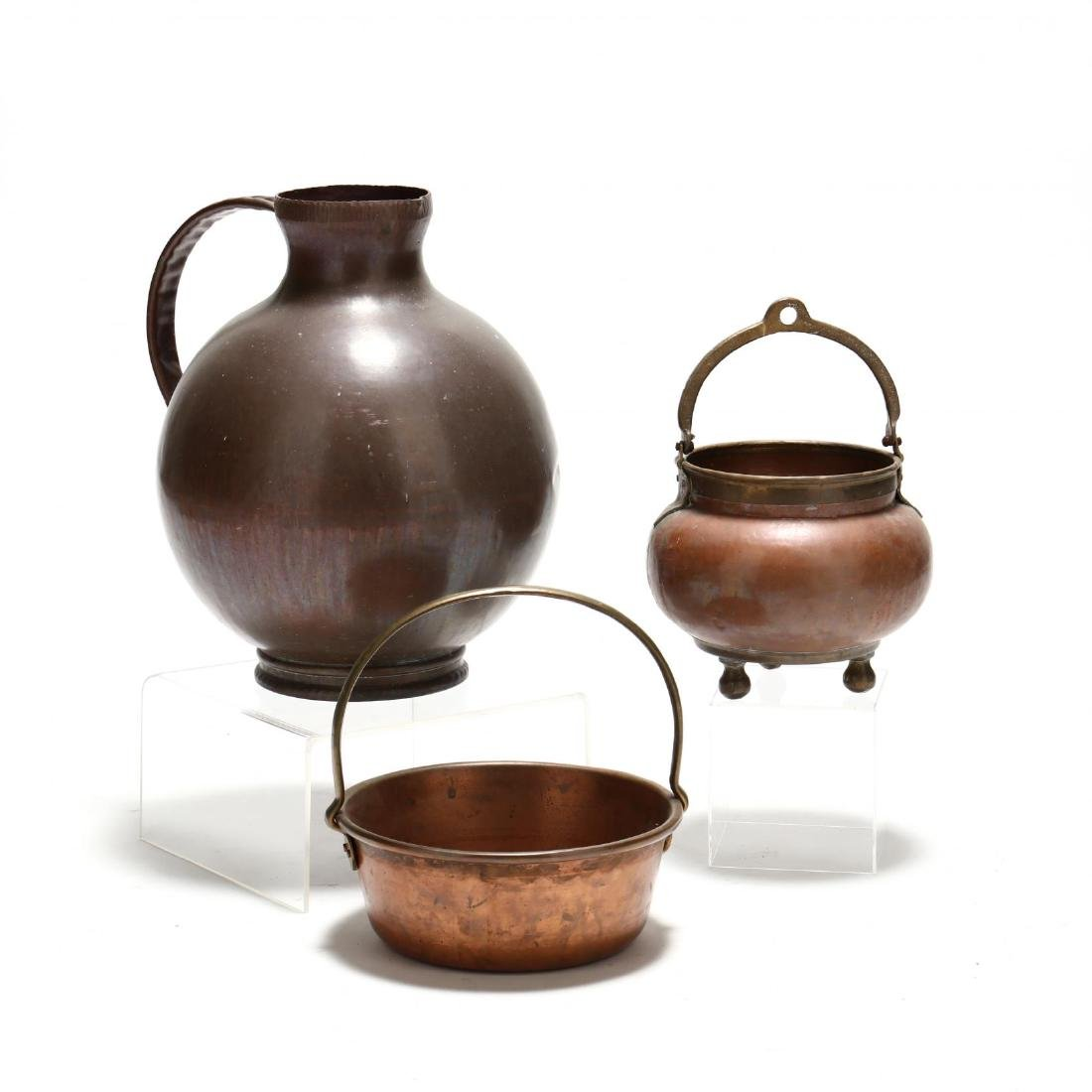 Three Large Copper Vessels