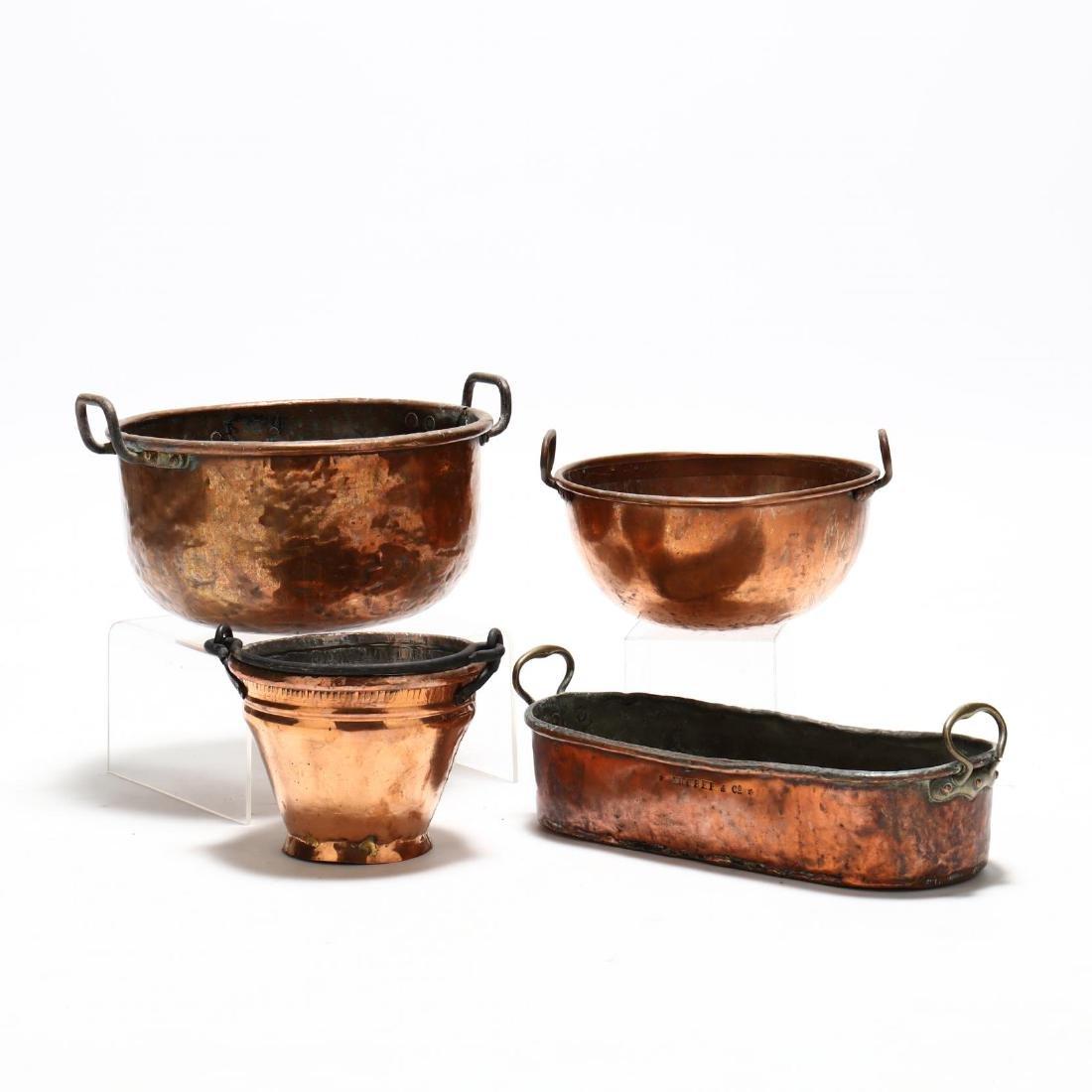 Four Antique Copper Vessels