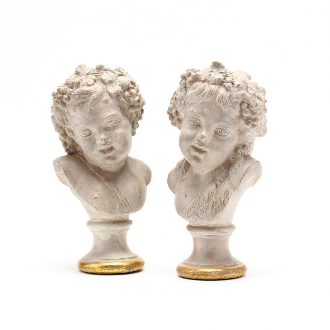 after Claude Michel (French, 1738-1814), Pair of Busts