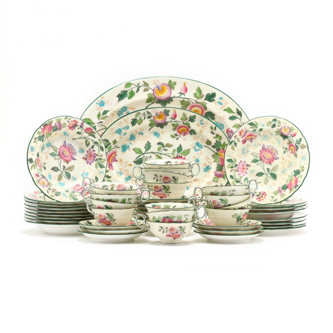"Wedgwood, ""Tonquin Ivory (Multicolor)"" Partial Luncheon"