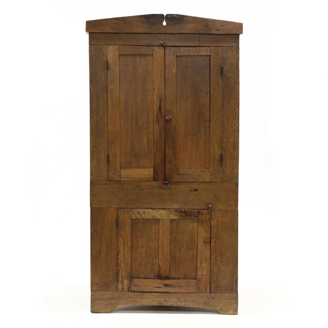 North Carolina Walnut Corner Cupboard