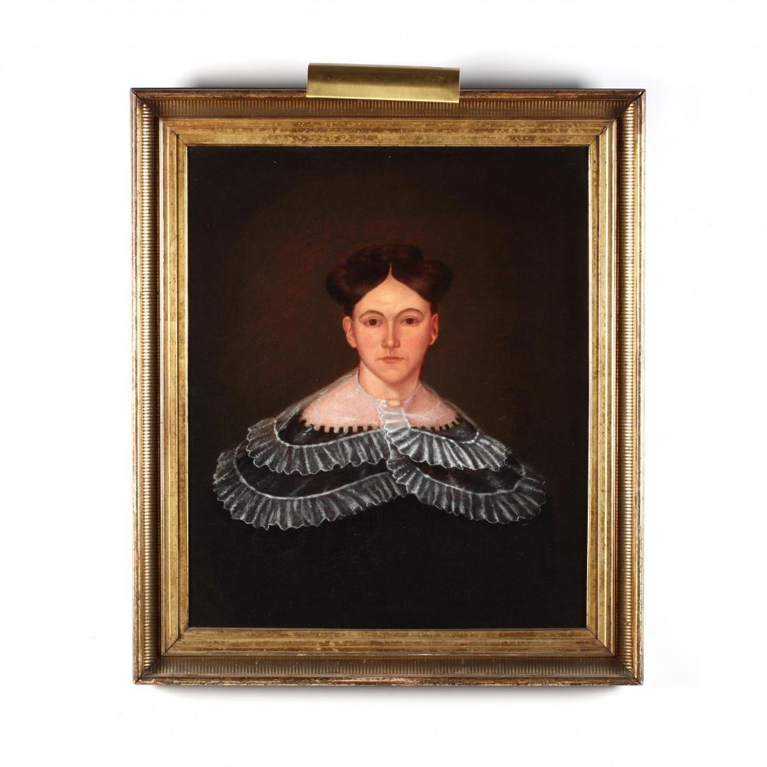 An Antique American School Portrait of a Woman