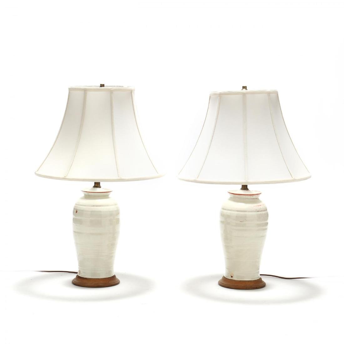 Pair of Seagrove Pottery Table Lamps