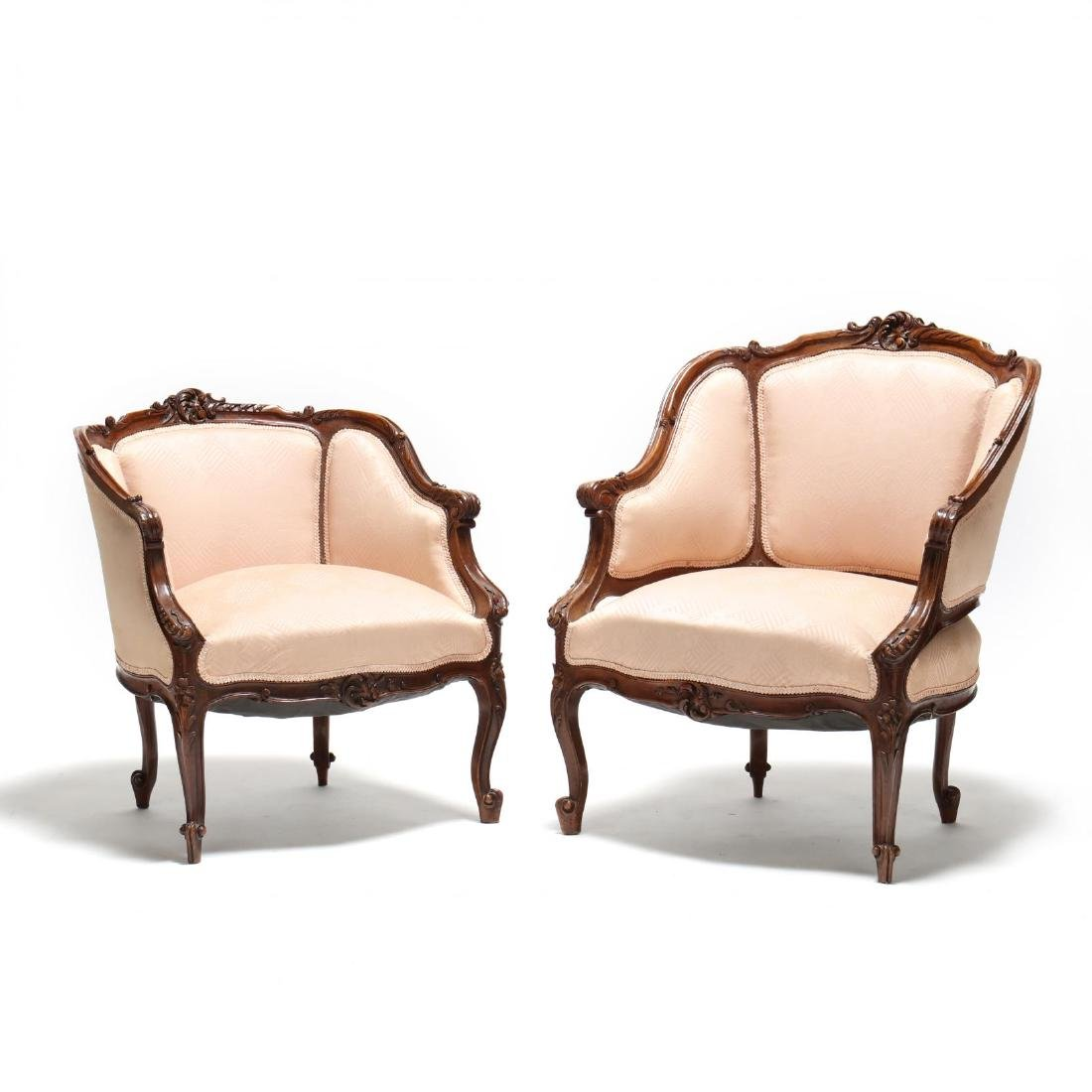 Two French Provincial Style Bergeres