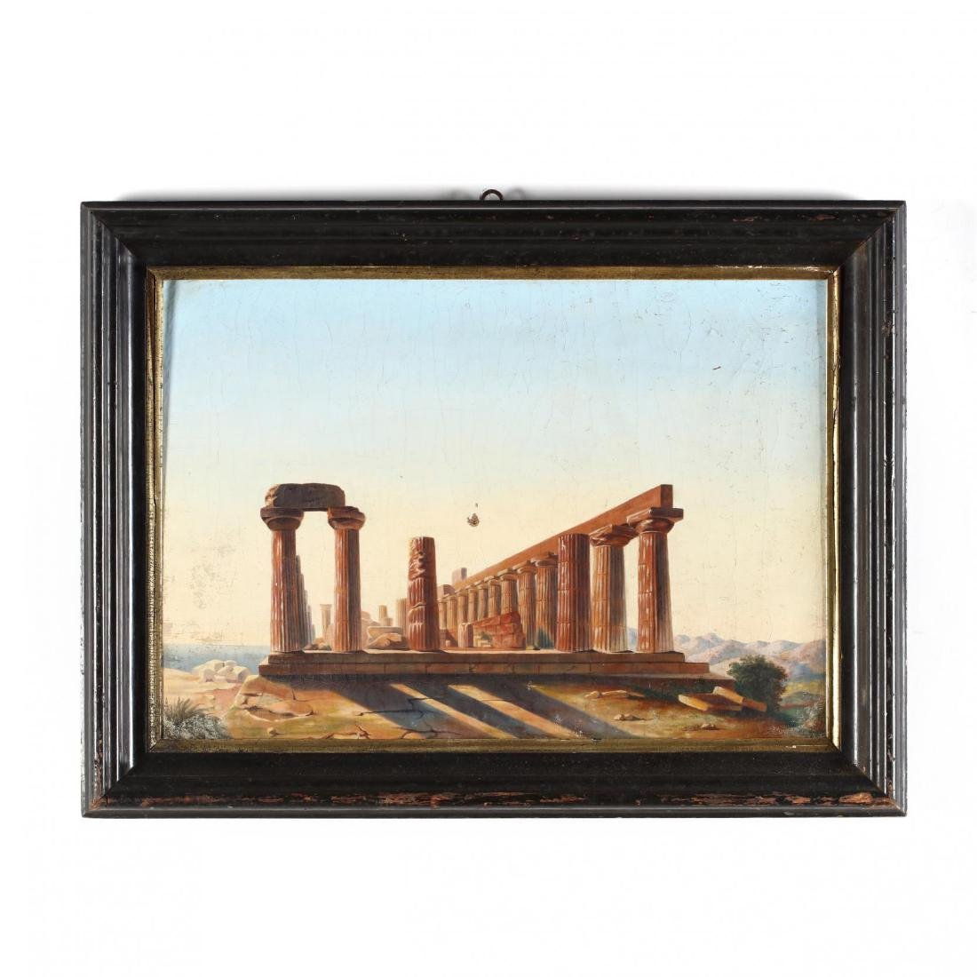 A Grand Tour Painting of the Temple of Hera