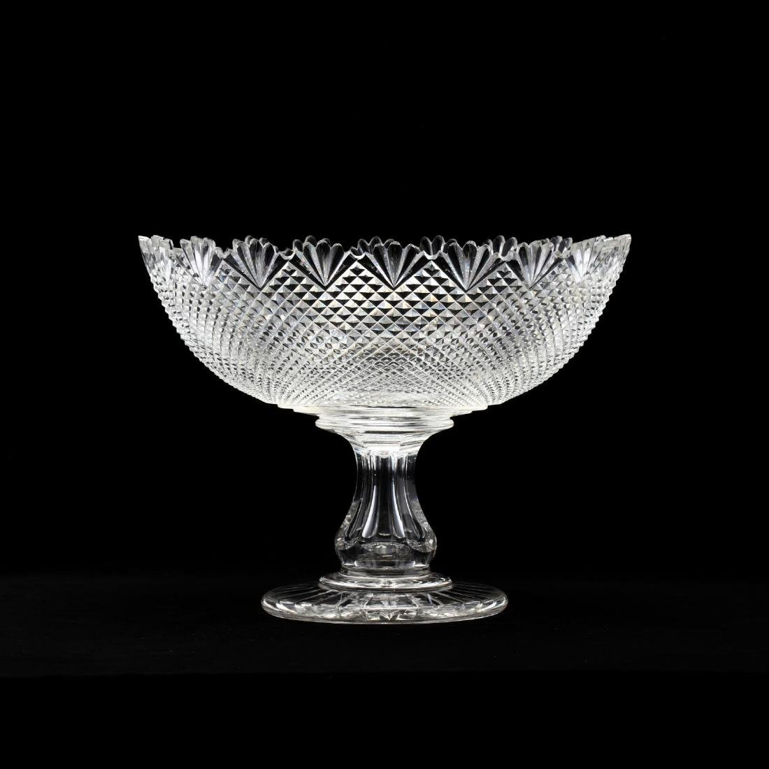 American Brilliant Glass Cut Center Compote