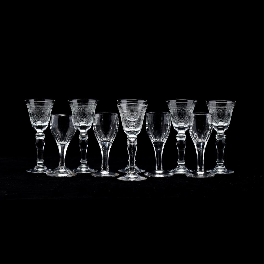Two Sets of Wine Glasses