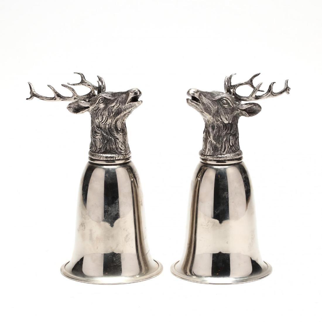 A Pair of Gucci Silverplate Stirrup Cups