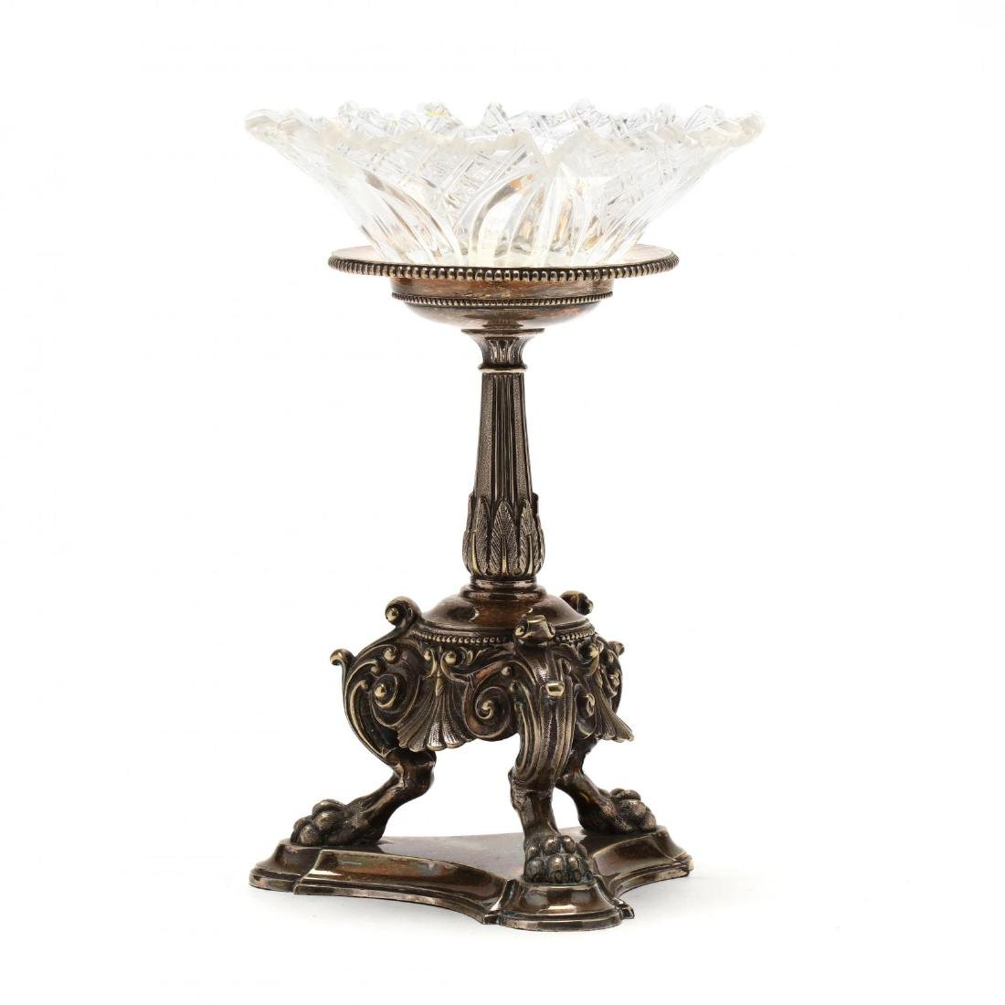 French Empire Silverplate Pedestal Stand