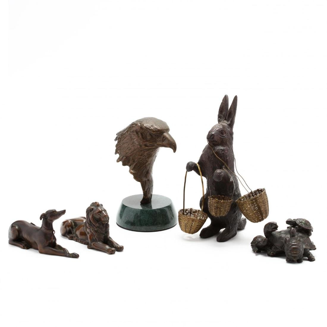 Five Cast Metal Animals