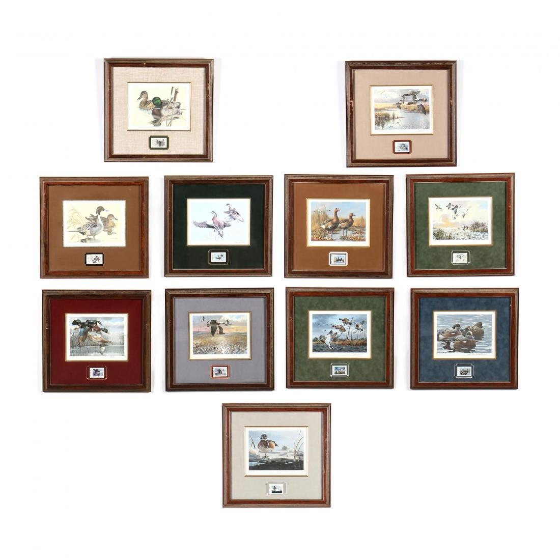 Eleven Consecutive Signed, Numbered Texas Waterfowl