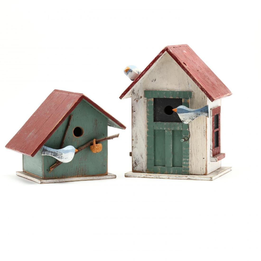 Two Folk Art Birdhouses