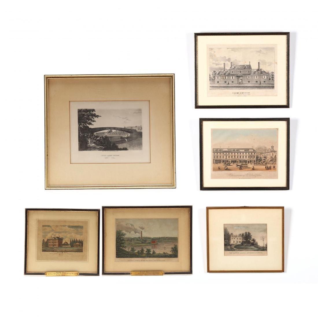 Six Mid-19th Century Philadelphia Area Views