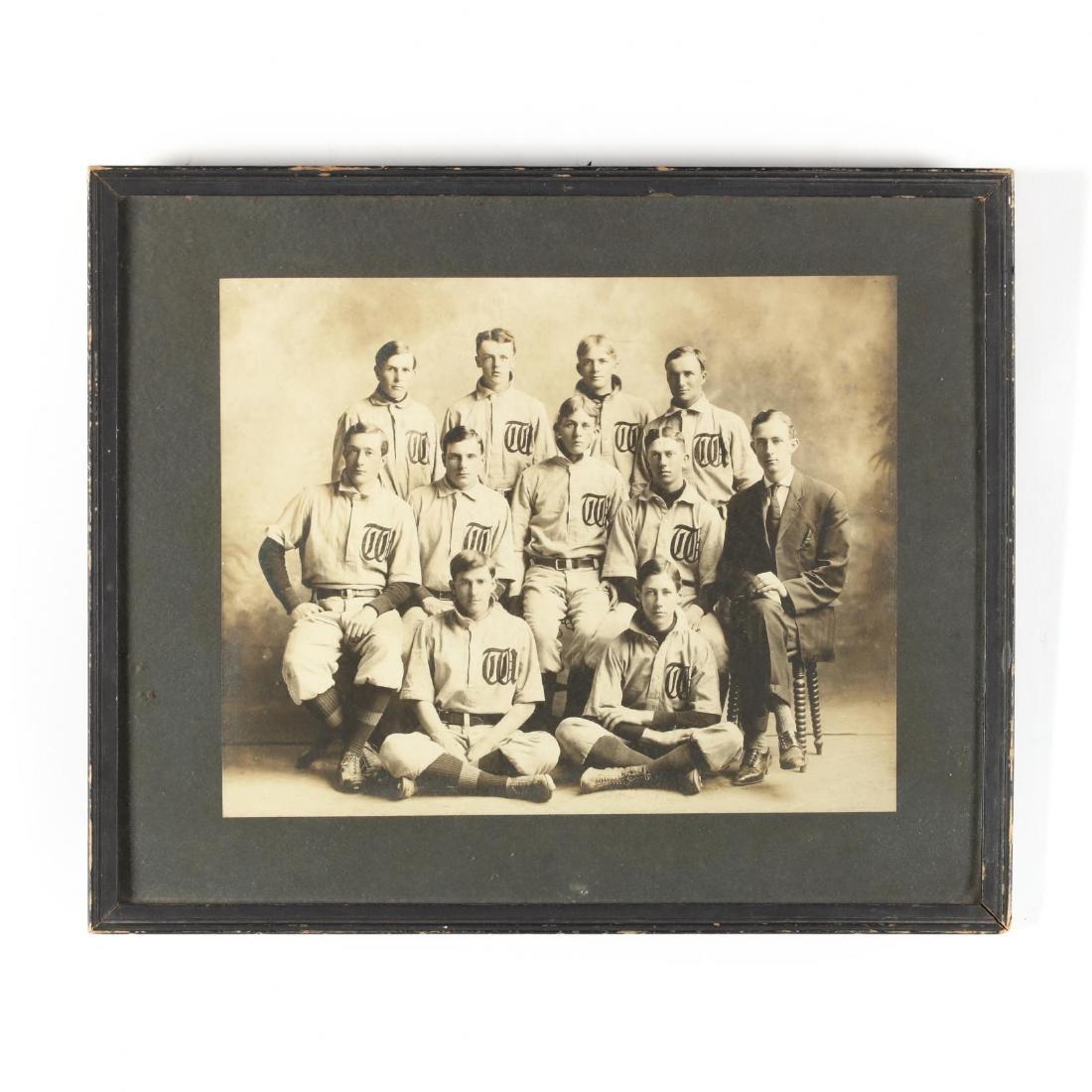 North Carolina School Baseball Team Photograph