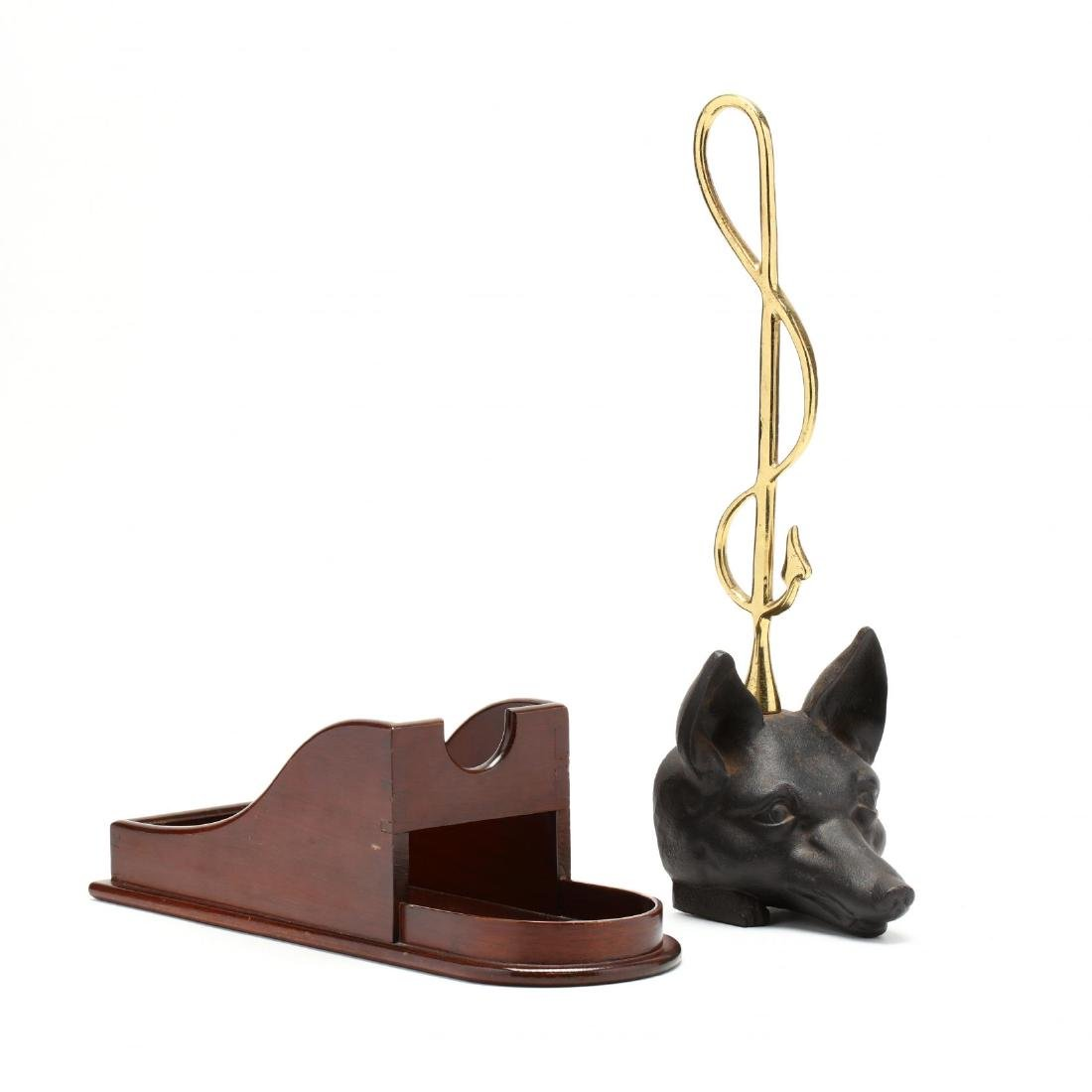 Colonial Williamsburg, Fox Doorstop and Wooden Wine