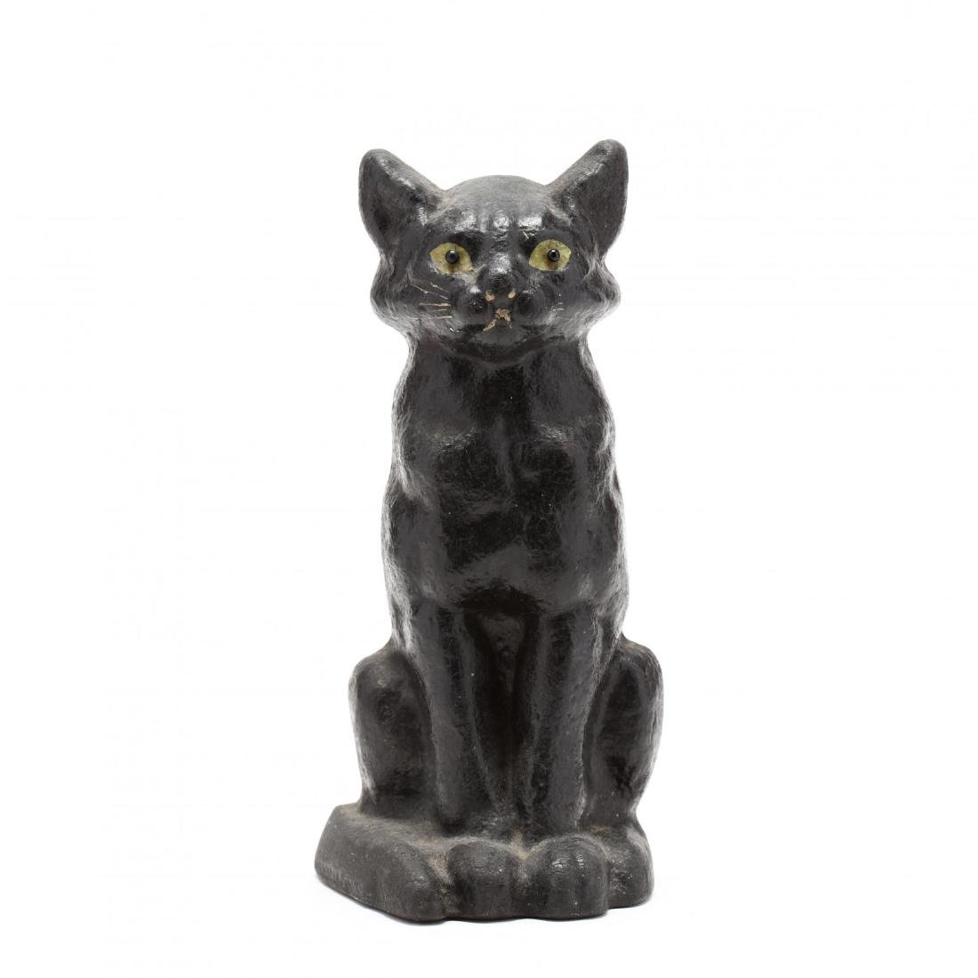 Vintage Kleistone Black Cat Door Stop
