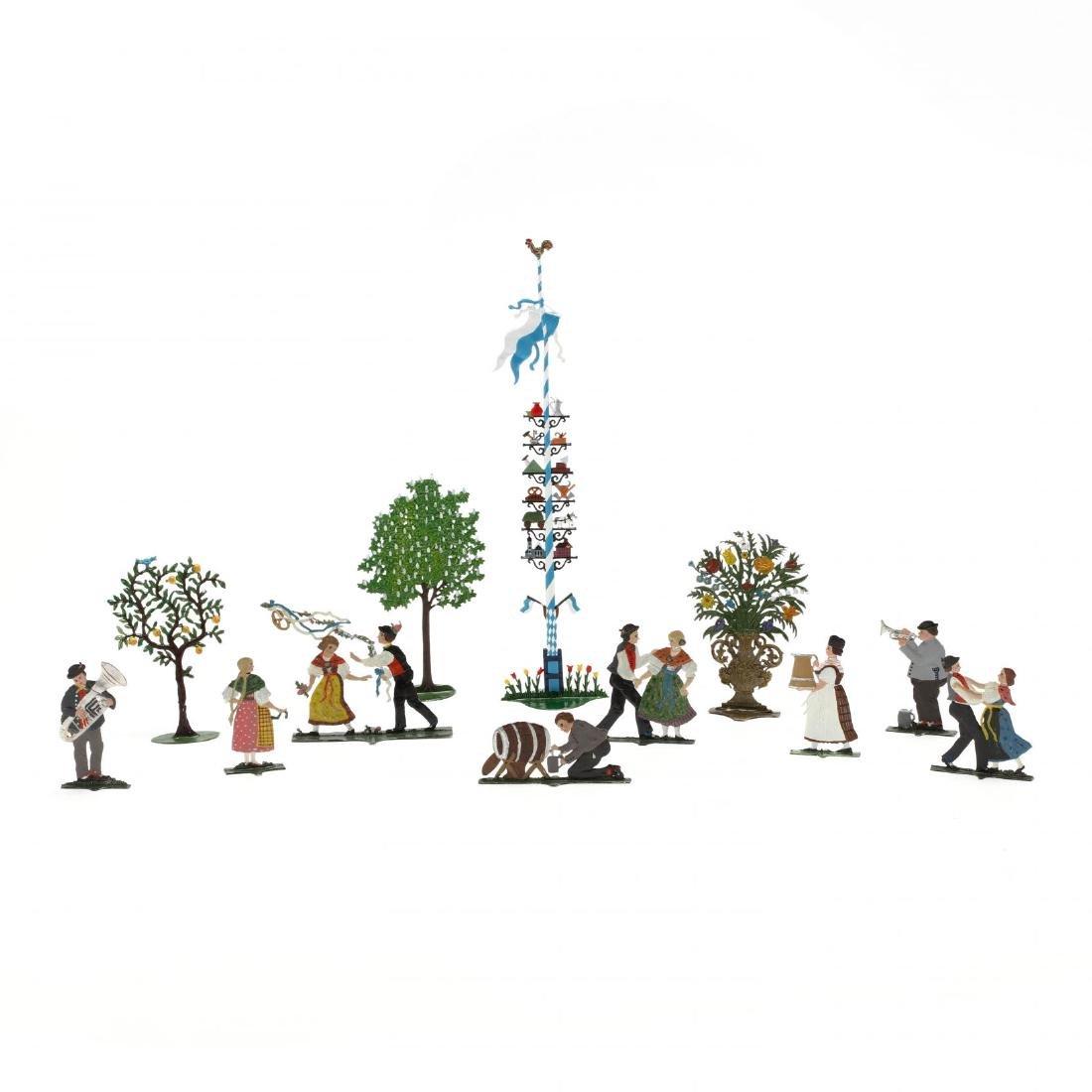 Group of German Painted Lead Figures