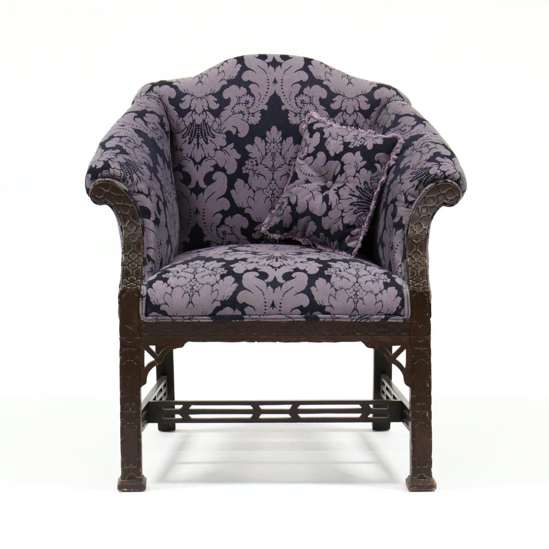 Chinese Chippendale Style Arm Chair