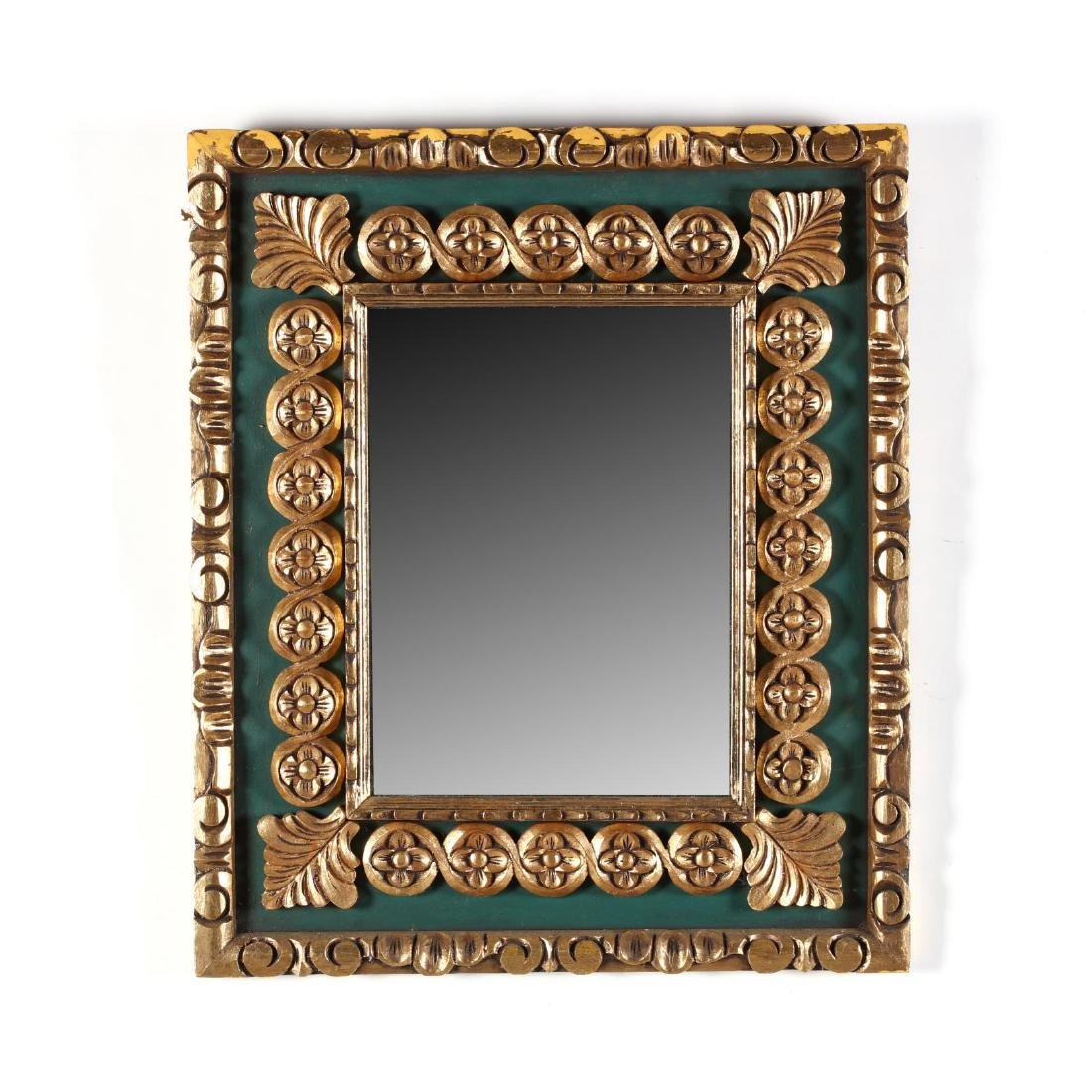 Italian Carved and Gilt Decorated Mirror