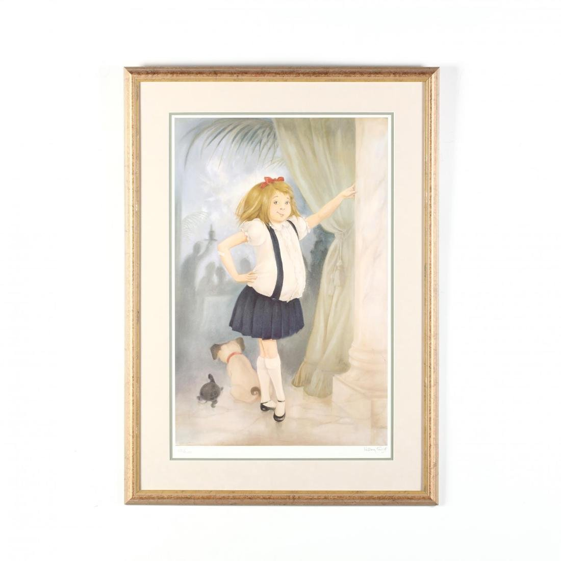 Large Framed Print of Eloise, Signed by Hilary Knight