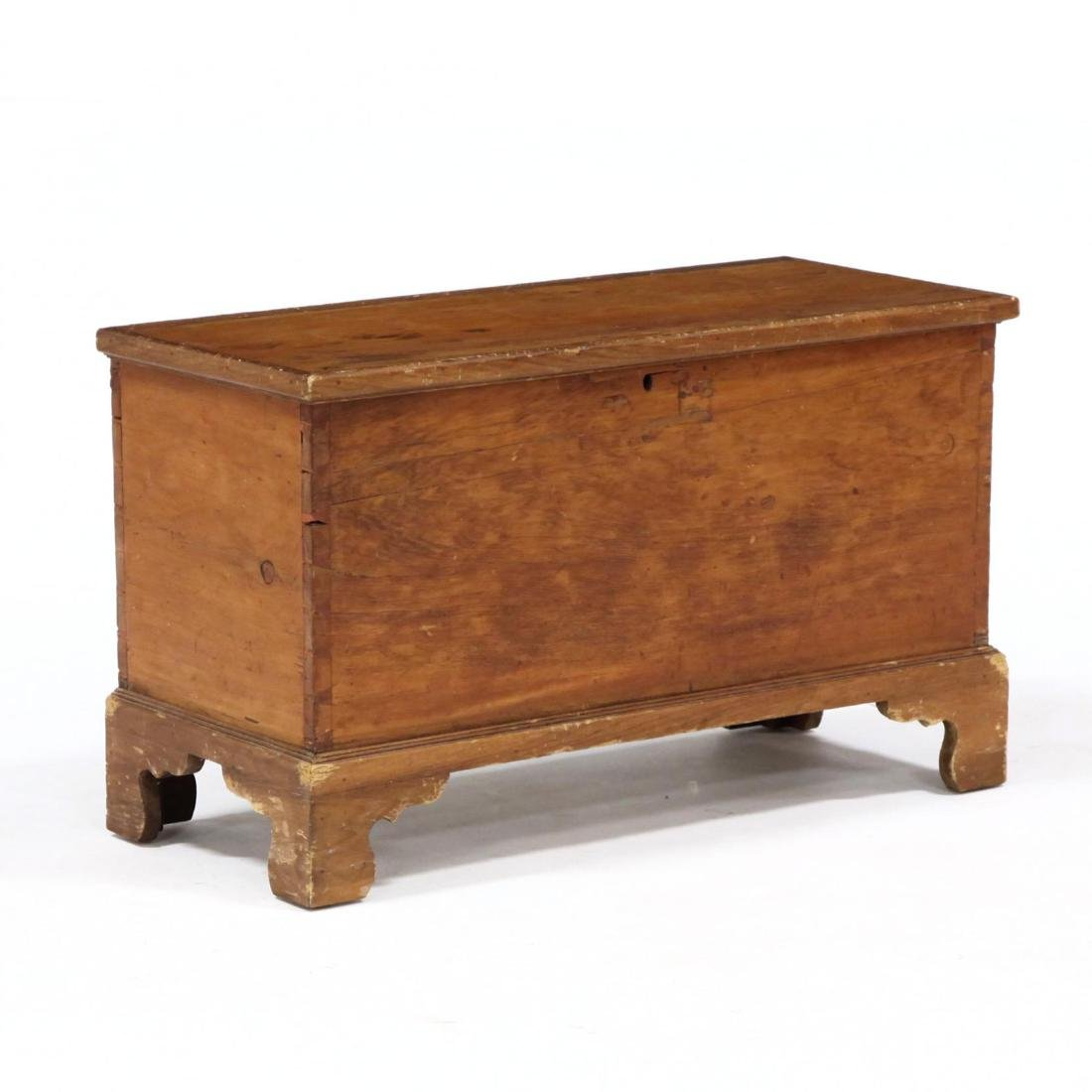 American Diminutive Chippendale Blanket Chest