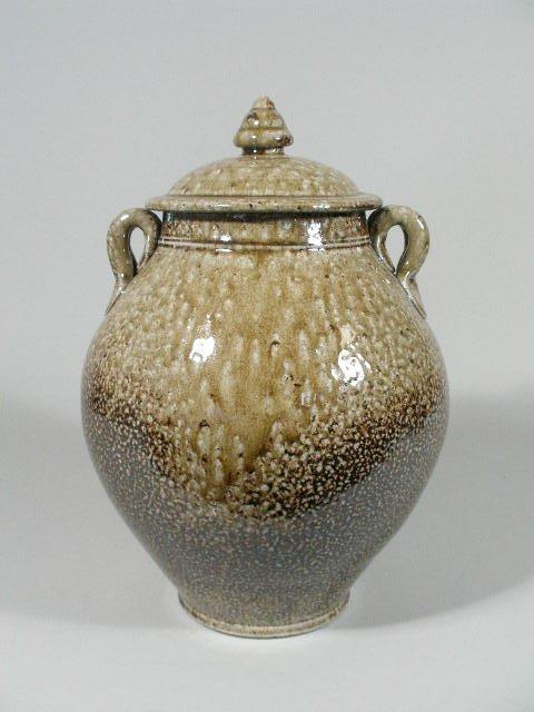 122: NC Pottery Lidded Jar, Mark Hewitt Pottery,