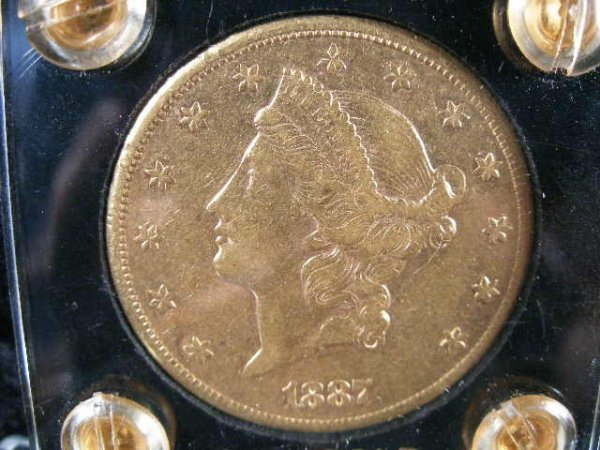 1001: 1887-S $20 Gold Liberty Head Double Eagle,