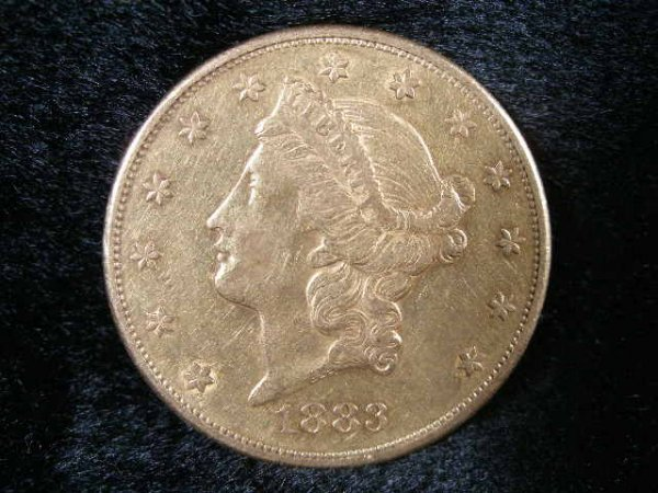 1002: 1883-S $20 Gold Liberty Head Double Eagle,