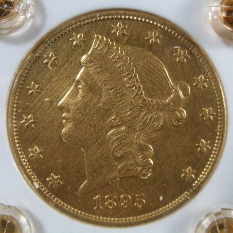 1003: 1895 $20 Gold Liberty Head Double Eagle,