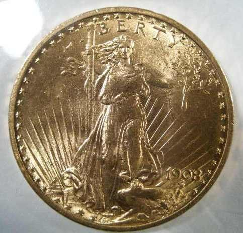 1006: 1908 NCI MS 63 $20 Gold St.Gaudens Double Eagle,