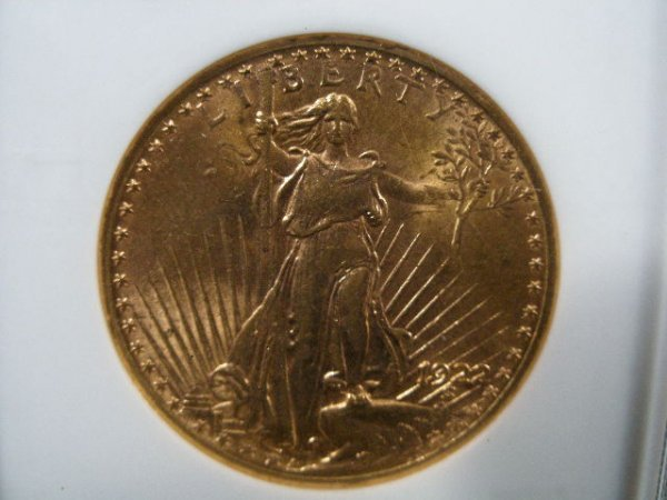 1007: 1922 NGC MS 62 $20 Gold St. Gaudens Double Eagle,