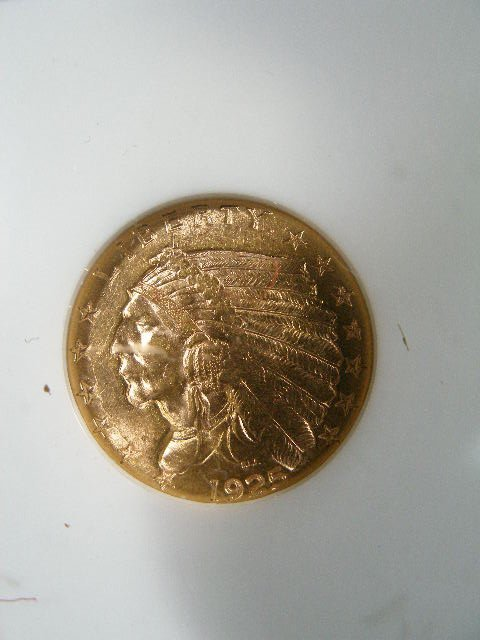 1020: 1925-D NGC MS 62 $2.50 Gold Indian Quarter Eagle,
