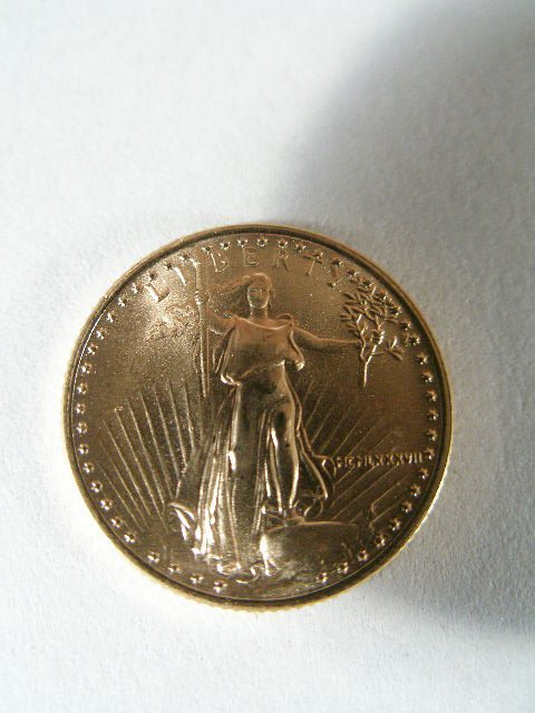 1024: 1987 BU Liberty $5 1/10 Ounce Gold Eagle,